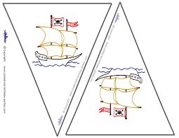 Pirate Ship Pumpkin Stencil by Small Printable Ship Flags
