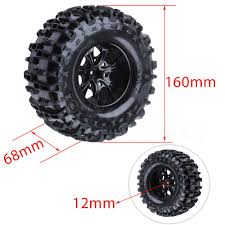 100 Rims Truck 4Pcs 155mm RC Tires Wheel Foam Inserts For 110 Monster