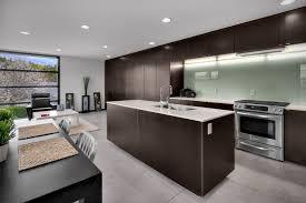 Kitchen Backsplash Ideas With Dark Wood Cabinets by Seattle Glass Backsplash Ideas Kitchen Modern With Recessed