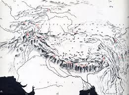 mountain ranges of himalayas himalaya the himalayan range in kashmir karakoram karakorum