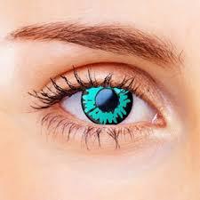 Blue Prescription Halloween Contacts by Halloween Contact Lenses
