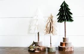 DIY Rustic Felt Christmas Trees