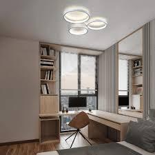 led deckenleuchte dimmbar mit fernbedienung 38w 43 5cm weiße wohnzimmerle aus metall und acryl moderne deckenbeleuchtung ring design für