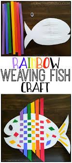 Kids Craft Weaving Rainbow Fish Tutorial Step By