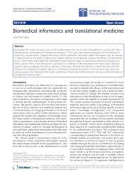 A Translational Innovation Forum Ppt Biomedical Informatics And Translational Pdf Available