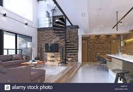 100 Modern Loft Interior Design Luxury Modern Loft Apartment Interior 3d Rendering Concept