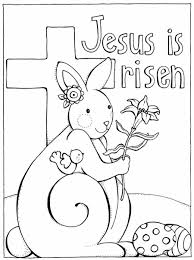 Jesus Is Risen Easter Coloring Pages