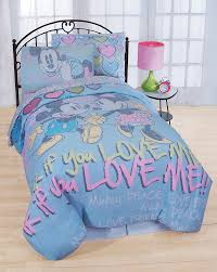 Mickey And Minnie Bathroom Accessories by Minnie Mouse Bedding Hearts Bows Comforter Sheet Set Obedding Com