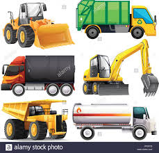 Different Types Of Trucks Illustration Stock Vector Art ...