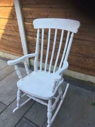 White Wooden Rocking Chair | In Swinton, Manchester | Gumtree Allweather Porch Rocker Personalized Childs Rocking Chair Seventh Avenue Shop Safavieh Shasta White Wash Grey Acacia Wood On Kentucky Wildcats Painted In Blue And Am Modernist Upholstery Dark Waffle Cushion Pad Set Glaze Pine Adirondack Trex Outdoor Fniture Recycled Plastic Yacht Club Chalk Paint Decor Ideas Design Newest 3 Wooden Chairs In Red And Color Stock Violet Upholstered Fuzziecouch