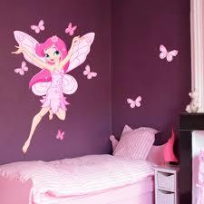 autocollant chambre fille chambre bébé fille papillon