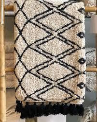 kokon teppich handbedruckt marokko 1 boho badteppich ethno 90x60 waysens