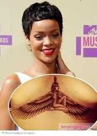 Rihanna New Chest Tattoo