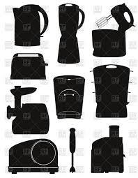 Set Of Electrical Appliances For The Kitchen Royalty Free Vector Clip Art
