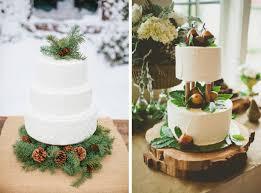 Rustic Christmas Wedding Cakes