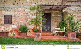 Beautiful Porch Of The House by Beautiful Porch In Front Of An House In Tuscany Stock Photo