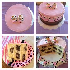 Leopard Baby Shower Cake Recipes Baby Shower Cakes Leopard Baby