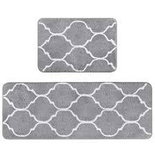 homcomodar 2teilig rutschfeste badematte mikrofaser badteppiche absorbent badvorleger für badezimmer öko tex 100 zertifiziert duschvorleger