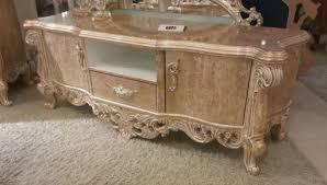 casa padrino luxus barock tv schrank antik gold 220 x 55 x h 65 cm prunkvoller massivholz fernsehschrank barock wohnzimmer möbel