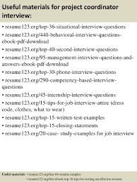 Sample Project Coordinator Resume
