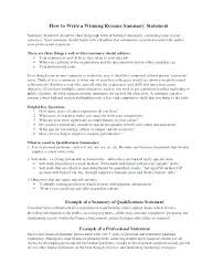 Resume Summary Examples For Students Example Samples Word Sample Statements