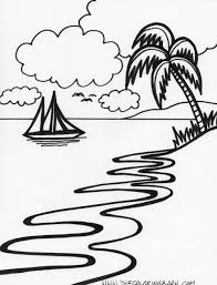 10 Pics Of Tropical Sunset Coloring Pages