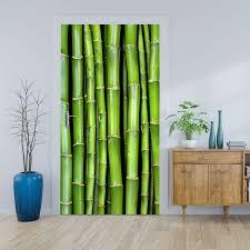 türtapete bambuswand sticker für türen tür bilder aufkleber deko wohnung modern m0054