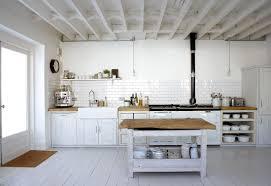 White Country Kitchen Design Ideas by White Rustic Kitchen With Island Design Ideas Come With White