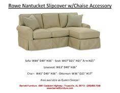 rowe nantucket slipcover sofa 2 cushion you choose the fabric
