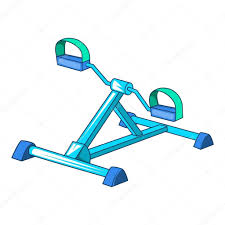 Gym Equipment Icon Cartoon Style Stock Vector