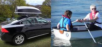 Car Roof Storage Container Doubles As A Boat For Camping Or When Youre Driving Through Floods TreeHugger