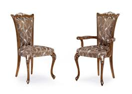 Italian Modern Rococo Bespoke Upholstered Dining Chairs MS0411 Custom  Made-To-Order