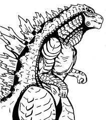 Monster Coloring Pages Godzilla