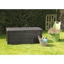 Keter Glenwood 390 Litre Deck Box by Keter Rattan Style Garden Storage Box 265 Litre Capacity Modern