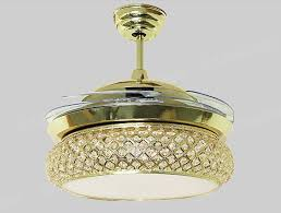 Chandelier Awesome Fan With Fancy Ceiling Fans Crystals Gold Crystal