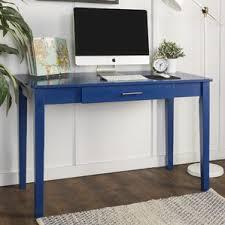 Parsons Mini Desk Aqua by Writing Desks You U0027ll Love Wayfair