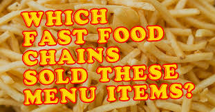 cuisine soldee which fast food chain sold these bygone menu items