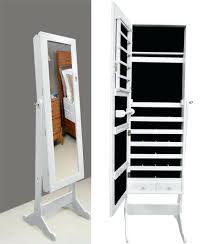 Mirrored Jewelry Box Armoire by Wall Ideas Wall Mirror Jewelry Storage Wall Mount Jewelry