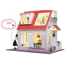 Personalized TYu DIY Kits Christmas House Decoration Miniature Wood