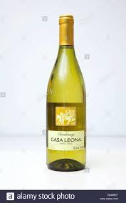 100 Casa Leona Bottle Of Chilean Chardonnay White Wine Stock Photo