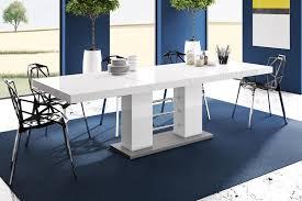 design esstisch tisch he 111 weiß grau hochglanz ausziehbar 160 bis 260 cm