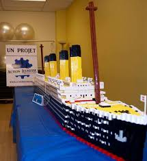 Lego Ship Sinking 3 by 100 Years And A Day Later A Lego Titanic Model Wired