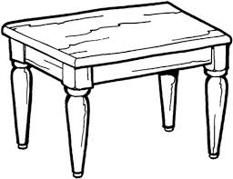 Click To See Printable Version Of Kitchen Table Coloring Page