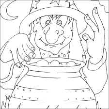 Witch Colouring Picture