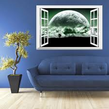 Wall Mural Decals Nature by 3d Superstars Fake Windows Wall Stickers Home Decoration 50 70cm