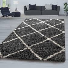 hochflor teppich shaggy für wohnzimmer skandi design und
