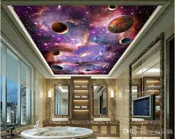 Space Galaxy 3D Ceiling Mural Large Wallpaper Living Room Bedroom Painting TV Backdrop