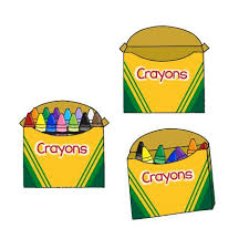 Crayon and Crayon Box Clipart