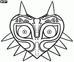 The Legend Of Zelda Majoras Mask Coloring Page