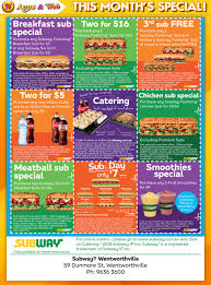 Subway Deals Wentworthville - Parramatta Negotiator Magazine Subway Singapore Guest Appreciation Day Buy 1 Get Free Promotion 2 Coupon Print Whosale Coupons Metro Sushi Deals San Diego Coupons On Phone Online Sale Dominos 1for1 Pizza And Other Promotions Aug 2019 Subway Usa Banners May 25 Off Quip Coupon Codes Top August Deals Redskins Joann Fabrics Text Canada December 2018 Michaels Naimo Deal Hungry Jacks Vouchers Valid Until Frugal Feeds Free 6 Sub With 30oz Drink Purchase Sign Up For